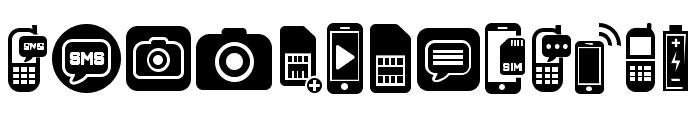 Mobile Icons Regular Font UPPERCASE