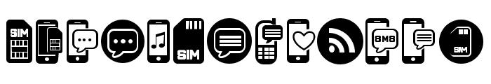 Mobile Icons Regular Font LOWERCASE