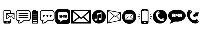 Mobile Icons Regular Font LOWERCASE