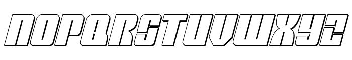 Mobile Infantry 3D Italic Font UPPERCASE