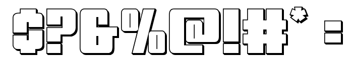 Mobile Infantry 3D Regular Font OTHER CHARS