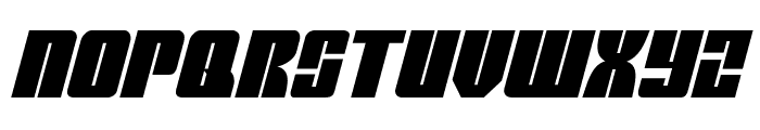 Mobile Infantry Italic Font UPPERCASE
