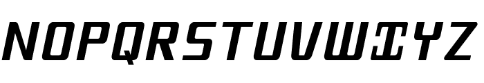MobitaleCnd-BlackItalic Font UPPERCASE