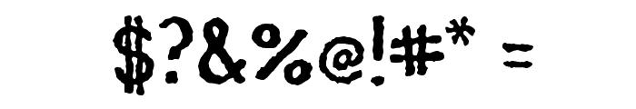 Mocha Java Font OTHER CHARS