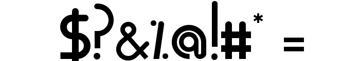 Mode G Regular Font OTHER CHARS