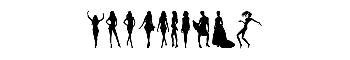 Model Woman Silhouettes Font OTHER CHARS