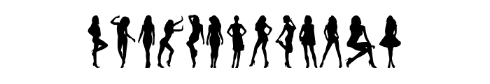Model Woman Silhouettes Font UPPERCASE