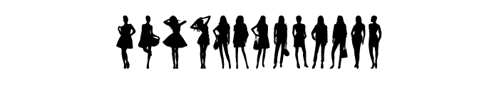 Model Woman Silhouettes Font LOWERCASE