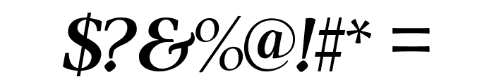 ModerataSerif Bold Italic Font OTHER CHARS