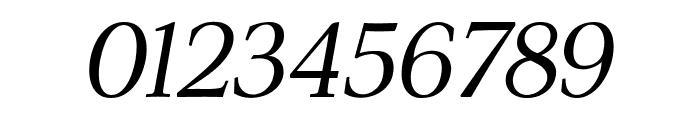 ModerataSerif Italic Font OTHER CHARS