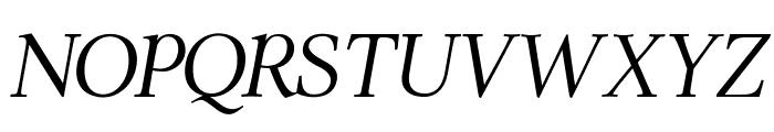 ModerataSerif Italic Font UPPERCASE