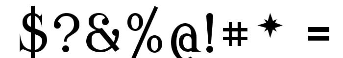 Modern Antiqua Regular Font OTHER CHARS