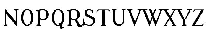Modern Antiqua Regular Font UPPERCASE
