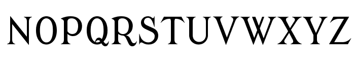 Modern Antiqua Font UPPERCASE