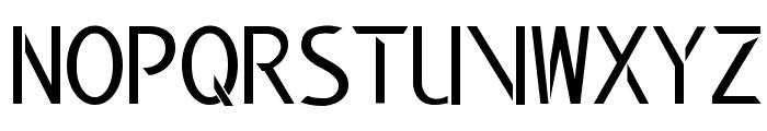 Modern Edge Font UPPERCASE