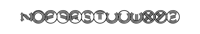 Modern Ringflash Font UPPERCASE