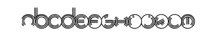 Modern Ringflash Font LOWERCASE