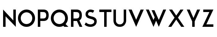Modern Sans Font UPPERCASE