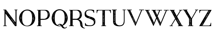 Modern Serif Eroded Font UPPERCASE