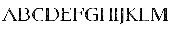 Modern Serif Eroded Font LOWERCASE