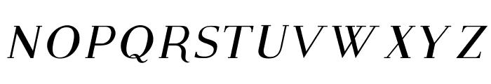 Modern Serif Italic Font UPPERCASE
