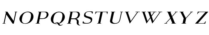 Modern Serif Italic Font LOWERCASE