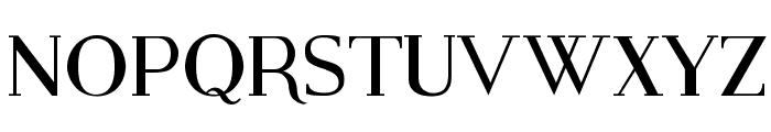 Modern Serif Font UPPERCASE