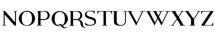 Modern Serif Font LOWERCASE