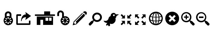 ModernPictograms Font LOWERCASE