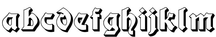 Moderne 3D Schwabacher Font LOWERCASE