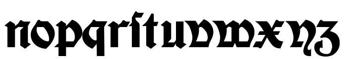Moderne Fette Schwabacher Regular Font LOWERCASE