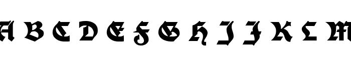 Moderne Fette Schwabacher UNZ1A Italic Font UPPERCASE