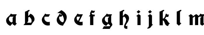 Moderne Fette Schwabacher UNZ1A Italic Font LOWERCASE