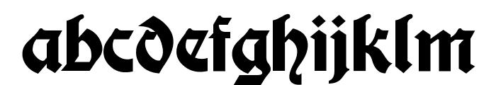 Moderne Fette Schwabacher UNZ1A Font LOWERCASE