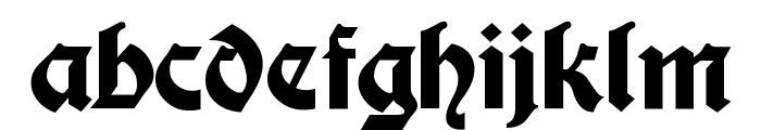 Moderne Fette Schwabacher Font LOWERCASE