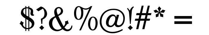 Moderne Fraktur Font OTHER CHARS