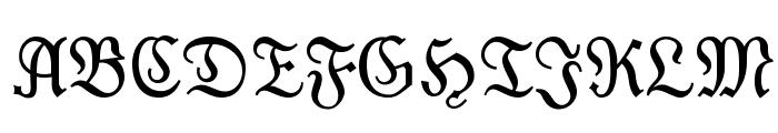 Moderne Fraktur Font UPPERCASE
