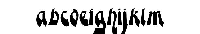 Moderne Gekippte Schwabacher Font LOWERCASE