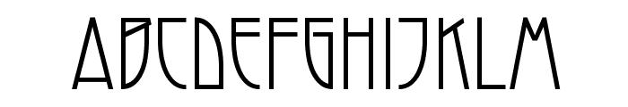 Modernist Nouveau Font UPPERCASE