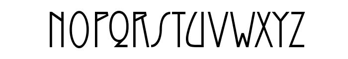 Modernist Nouveau Font LOWERCASE