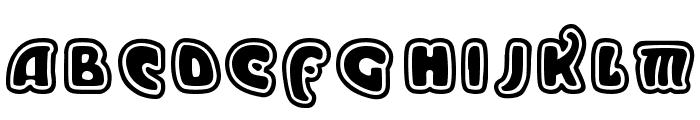 Moderno Outline Font UPPERCASE