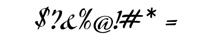 Modeschrift Font OTHER CHARS