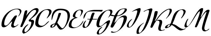 Modeschrift Font UPPERCASE
