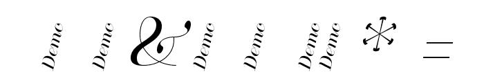 ModesteHenri Demo Font OTHER CHARS