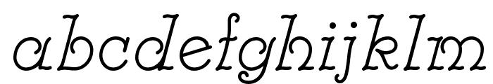 Modestina Font LOWERCASE