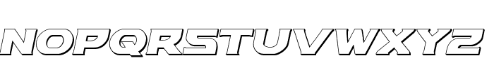 Modi Thorson 3D Italic Font UPPERCASE