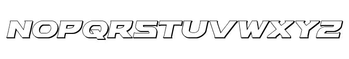 Modi Thorson 3D Italic Font LOWERCASE