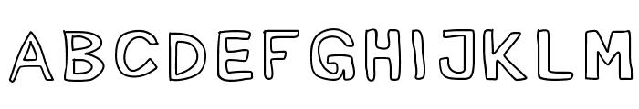 Mogghla Font UPPERCASE