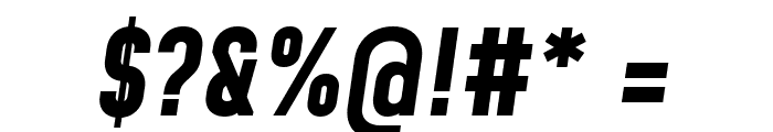 Mohave Bold Italic Font OTHER CHARS