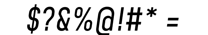 Mohave Italic Font OTHER CHARS